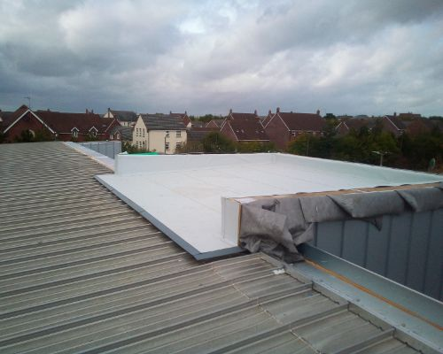New Roof at Retail Premises Swindon by Tunbridge Wells Roofing